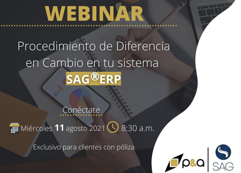 Webinar Procedimiento de Diferencia en Cambio en el SAG®ERP