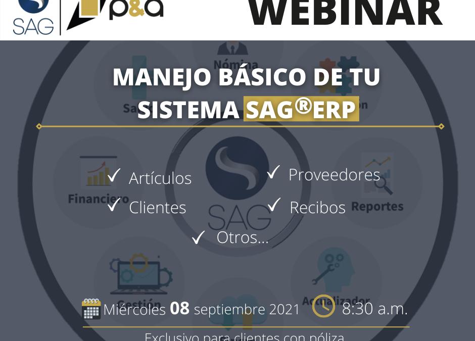 Webinar de Manejo Básico del SAG®ERP