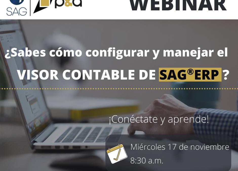 Webinar Configuración y Manejo Visor Contable en el SAG®ERP