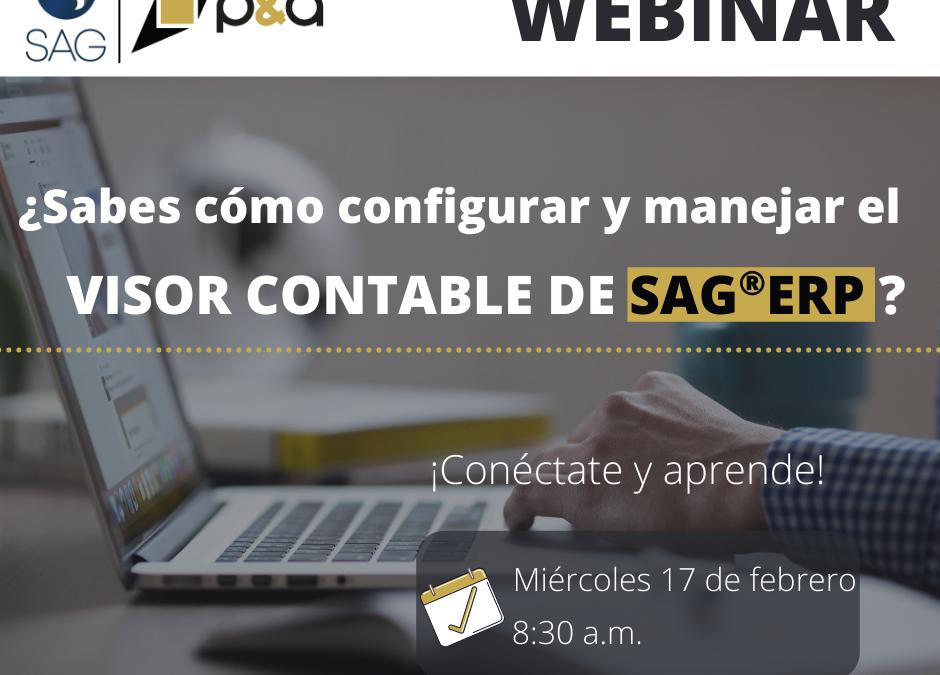Webinar de Manejo del Visor Contable en el SAG®ERP