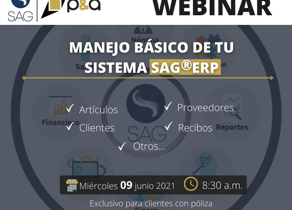 Webinar de Manejo Básico en el SAG®ERP